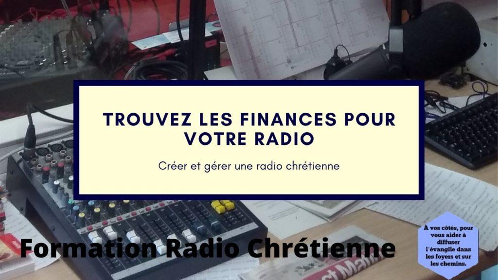 Trouvez les finances pour votre radio